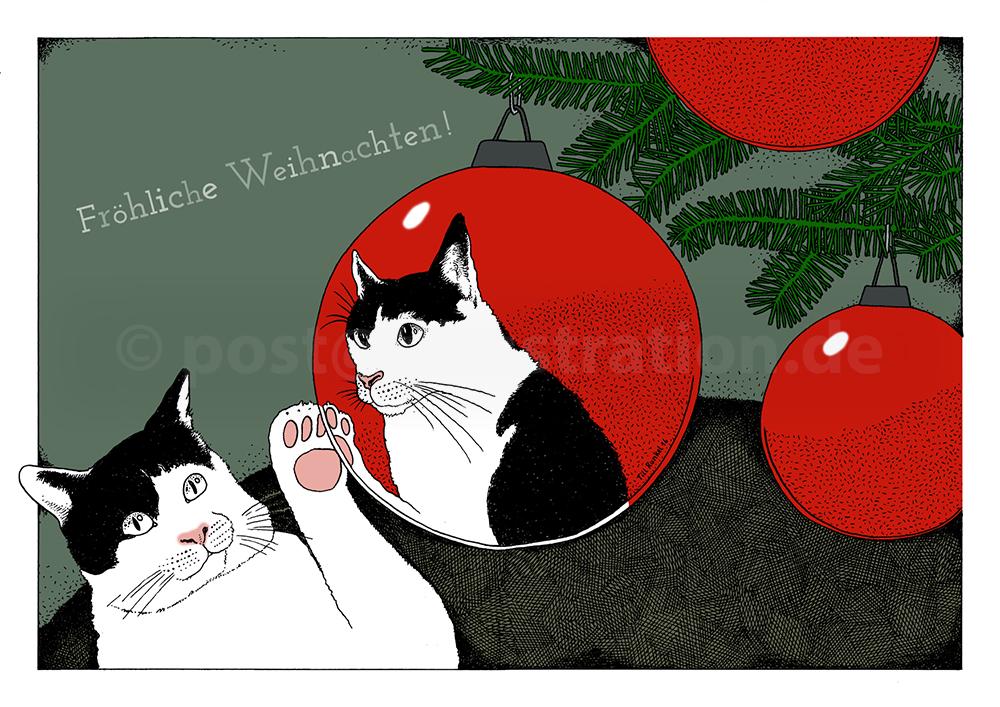Dies ist das Motiv meiner diesjährigen Weihnachtskarte 2017