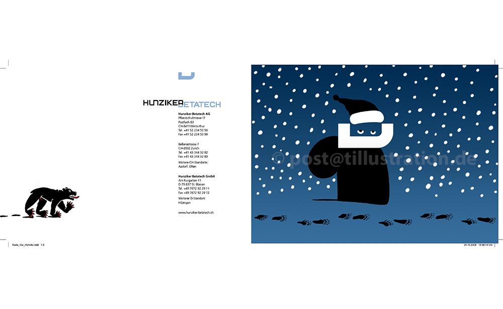 Huziker Weihnachtsklappkarte 2016