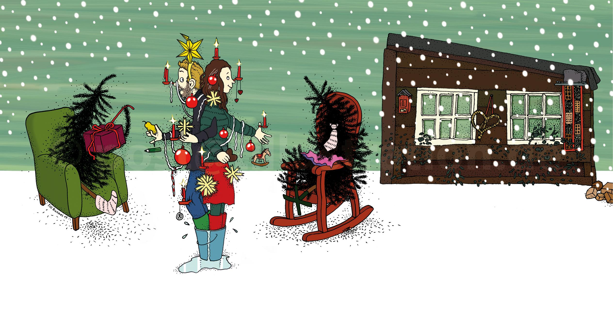 Weihnachtspostkarte 2017