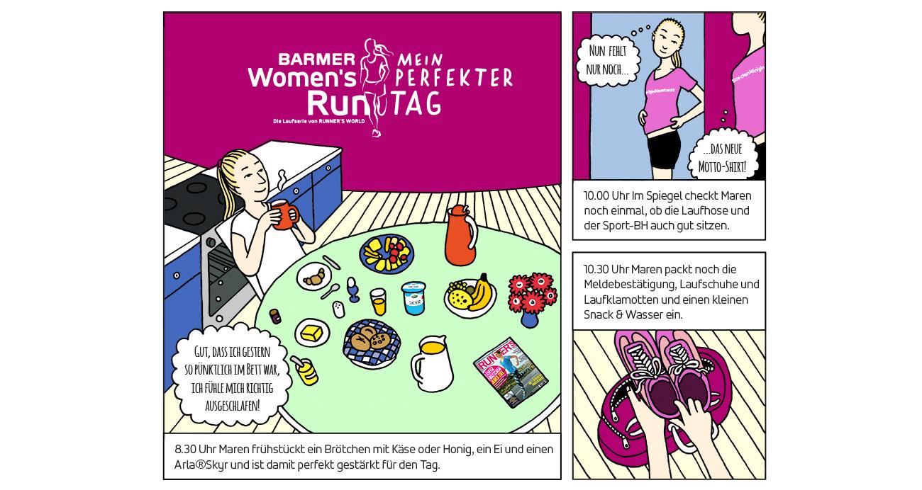 Dies ist der Seitenaufmacher des Comics Womans Run.